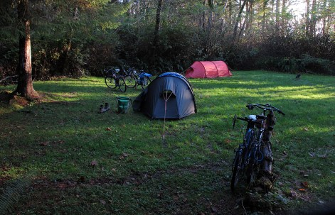 Camp site at French Beach.