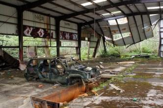 An abandonded cedar shake mill north of Quinault Lake.
