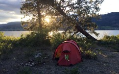 Our Skaha Lake camp site.