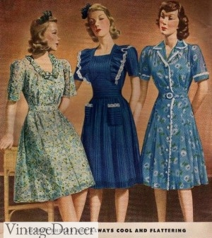 1940s Fashion  What Did Women Wear in the 1940s  1940s Sheer Afternoon Dresses  1940s Fashion for Ladies