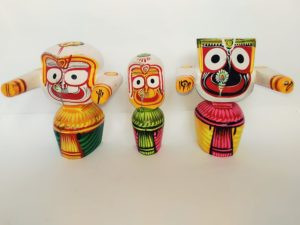 Lord Jagannath Baladeva and Subhadra Original Neem wood