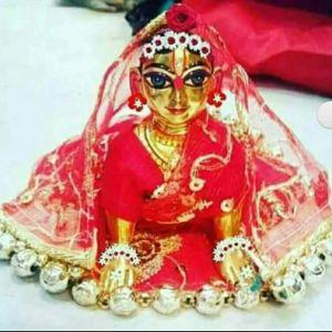 Radharani or Kishori Ji or Bal Radharani Deity / Murty / Statue made of Asthadhatu Original