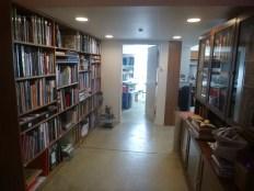 looking in from the door - already full bookshelves!!!
