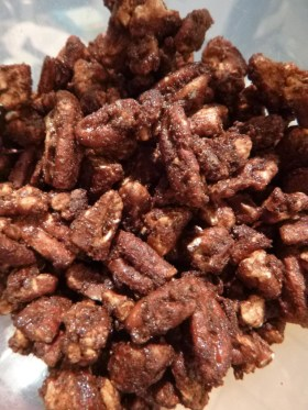 spiced pecans! oh bonus, they use some egg white!