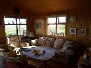 light and cozy - nice wood paneling modern rustic feel