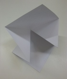 the base unit - square folded in on itself