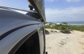 Climbing the dunes.