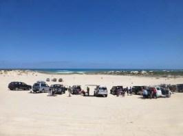 Five Mile Drift where we practised climbing dunes.