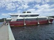 The Eagle docked at Sarah Island