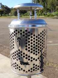 Town pride -even the rubbish bins are stylish.