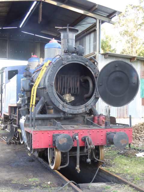 Inside the boiler.
