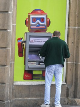 Robots dispense the cash in Inverness.