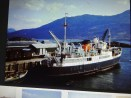 This is a photo of a photo of the Loch Seaforth, the ferry that used to take Alex & family to Lewis for holidays.
