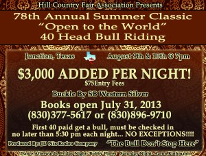 2013 Summer Classic Bull Riding