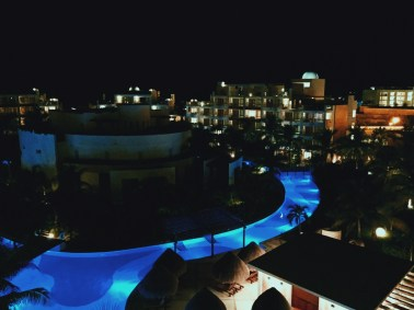 Night view at the all inclusive resort