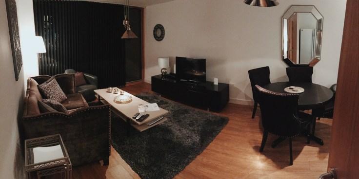 City Stay Milton Keynes lounge apartment review