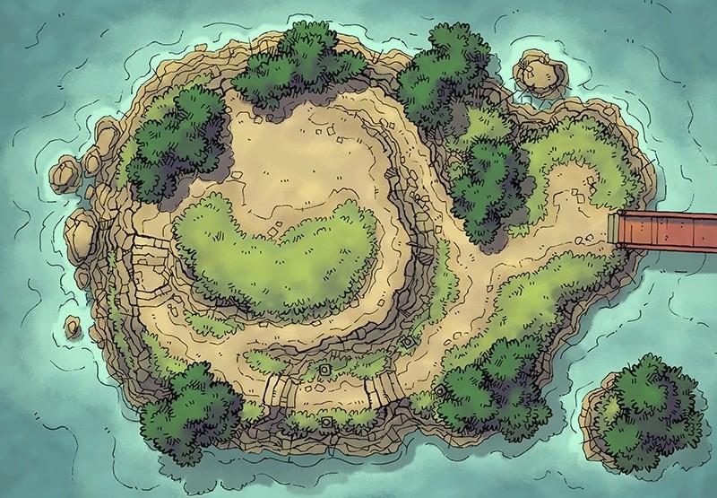 Island Plateau (color)
