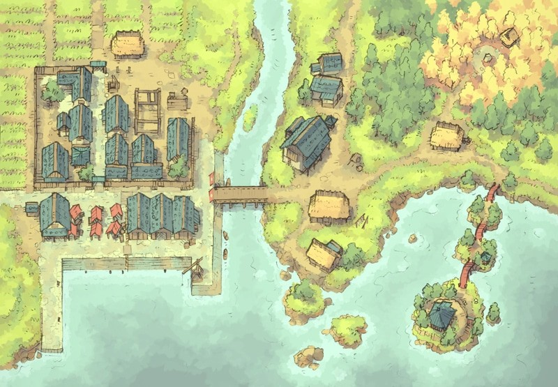 Coastal Town (color)
