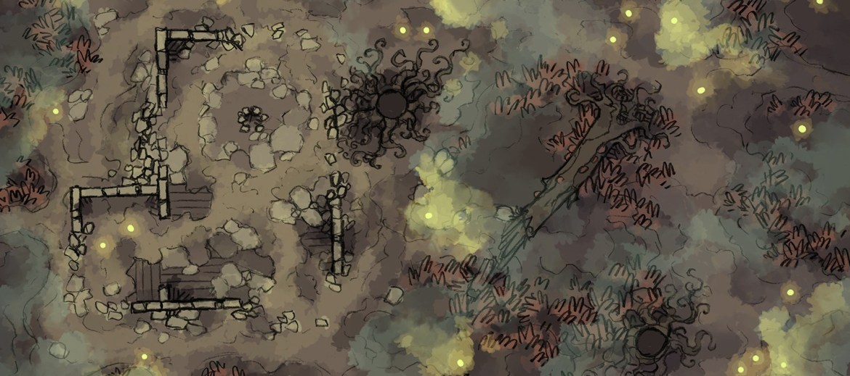 Shifting Swamp (Foggy) Battle Map