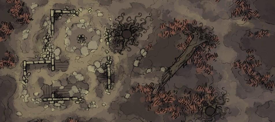 Shifting Swamp Battle Map