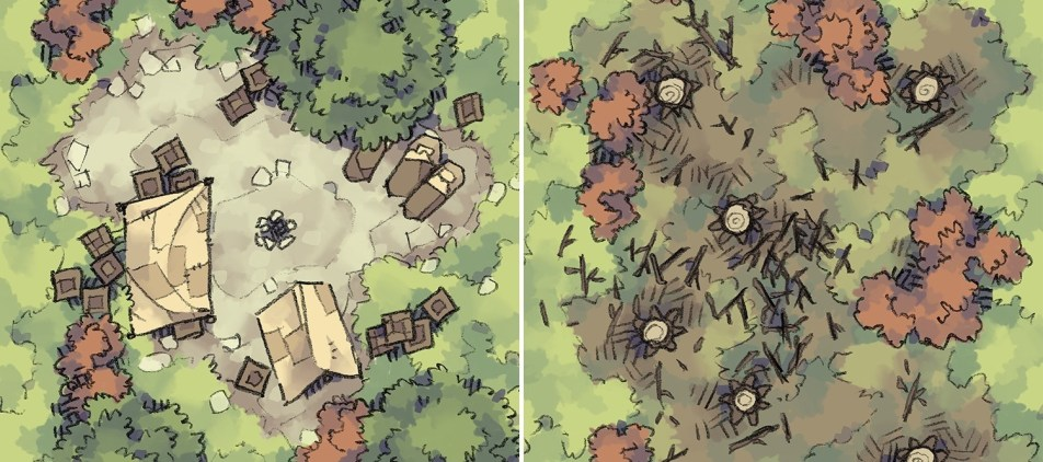 Roadside Camp & Clearcut map tiles