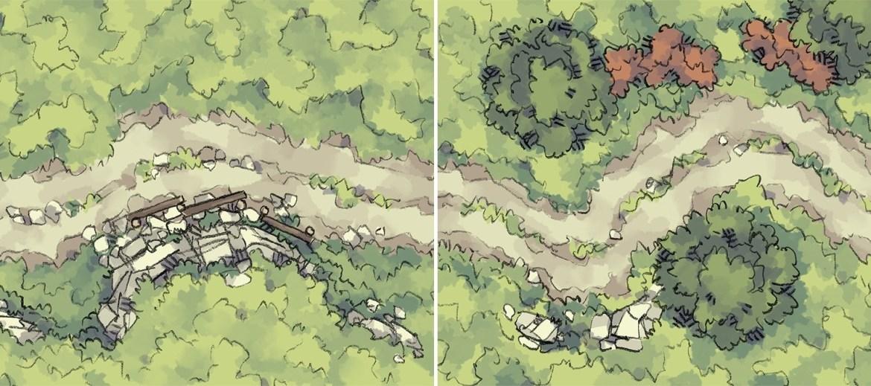 Roadside Rise & Wilderness Battle Maps
