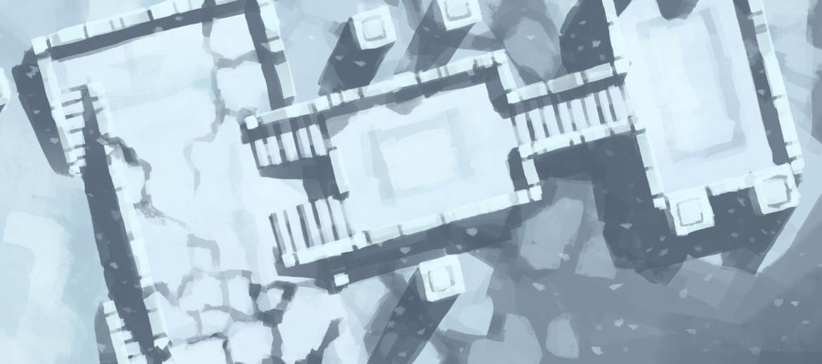 Snowy Sanctum battle map, banner