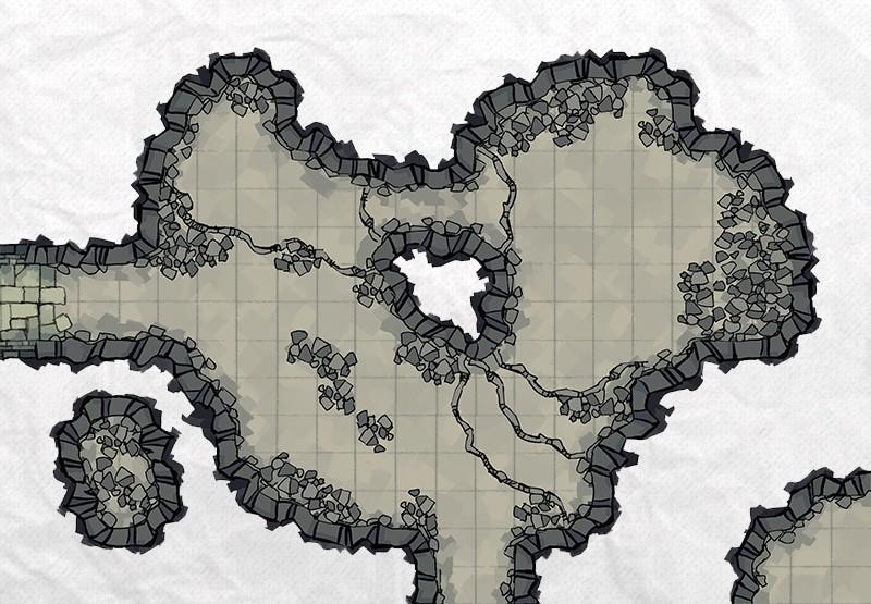 Cave Room Builder, demonstration cavern