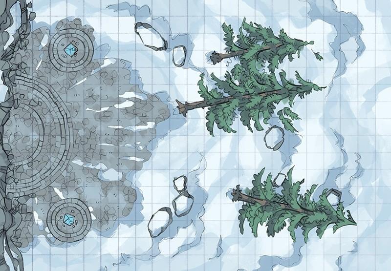 Battle Map: Volatile Portal inactive portal square grid
