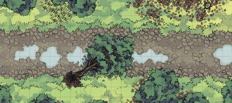 Cobblestone Highway battle map, forested banner