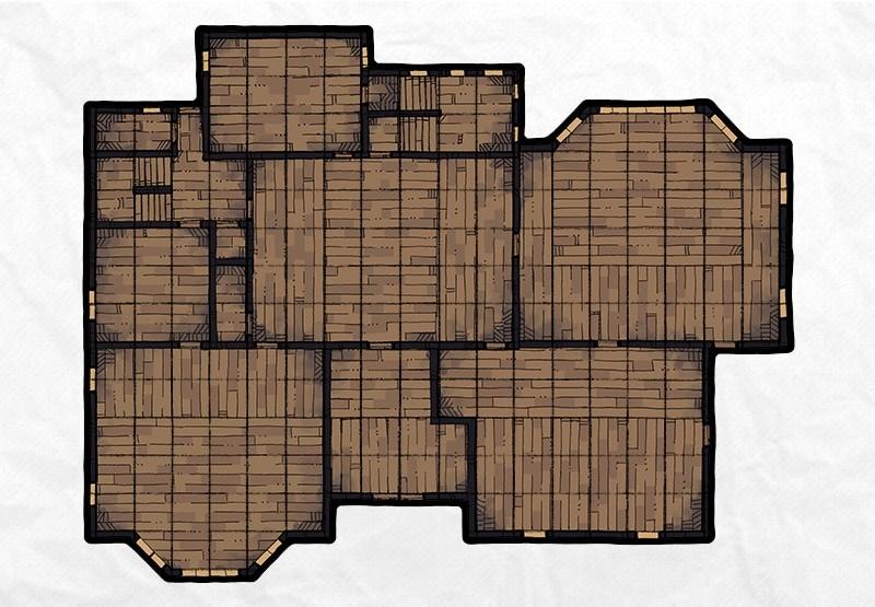 Haunted Mansion battle map, floor 1