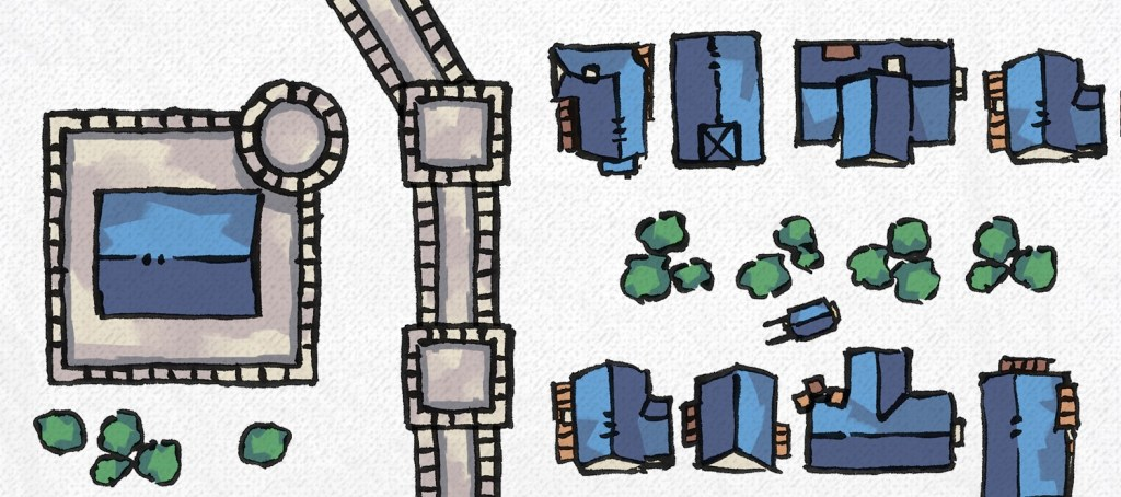 Town & City RPG Map Tokens, banner