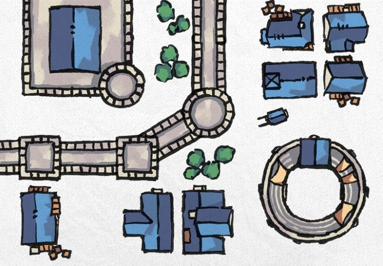 Town & City RPG Map Tokens, demo
