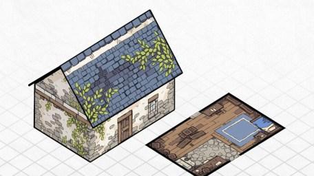 Papercraft Cottage 3D Battle Map, 3D Preview