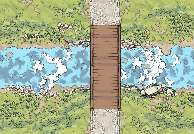 River & Water RPG Textures & Assets, demonstration map