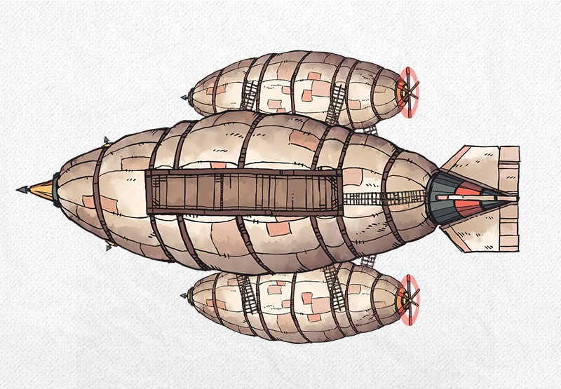 Airships & Assets RPG Graphics, Zeppelin Balloons