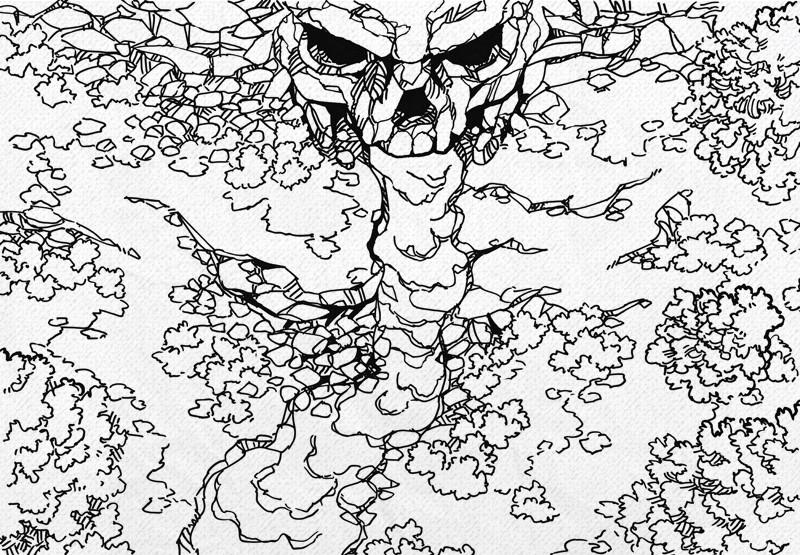 Cursed Cave battle map, lines