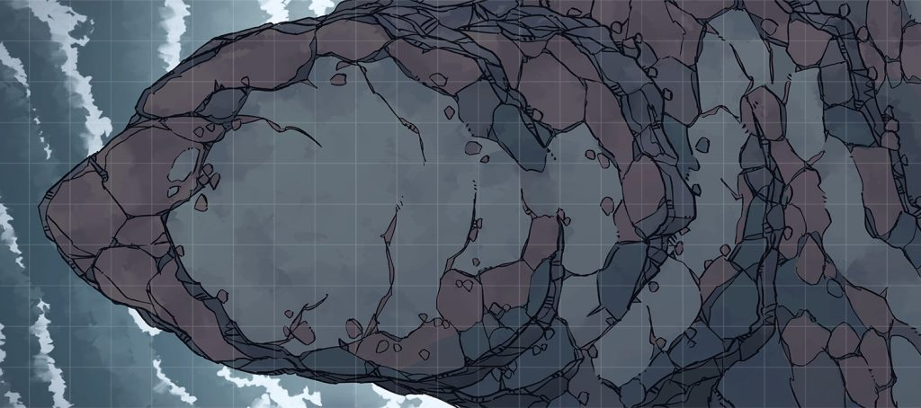 Seaside Precipice RPG battle map, Banner