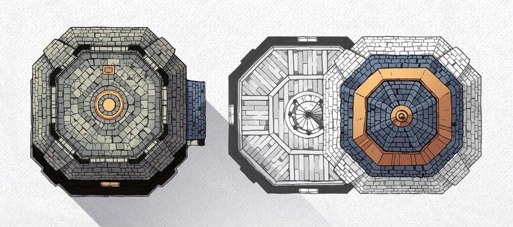 Lighthouse RPG battle map, banner