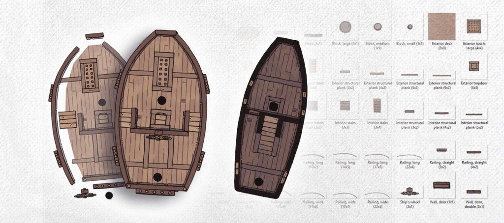 Sailing Ship Map Assets, build your own sailing ship map banner