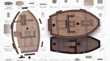 Sailing Ship Map Assets, build your own sailing ship map