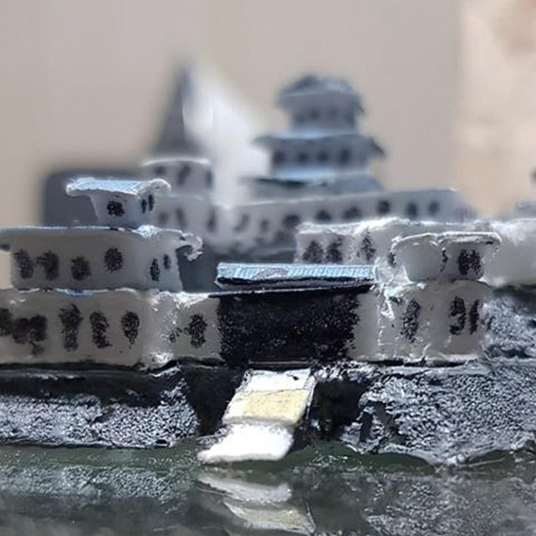 Japanese Samurai Castle Battle Map Model 3