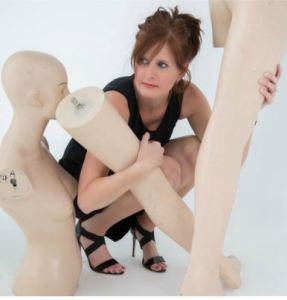 Amy Lyle with Mannequin legs