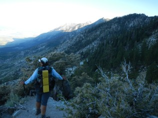 """At the """"top"""", looking over Carson Valley"""