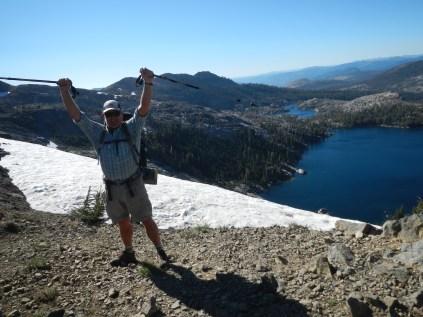 Top of the pass, Richardson Lake below