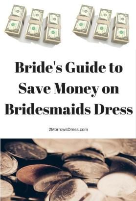 Bride's Guide Save Money on Bridesmaids Dress