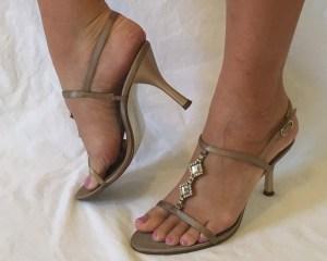 Bridal Shoes Gold strap