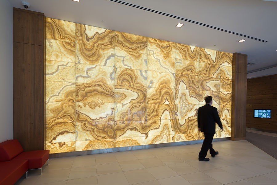 Backlit Translucent Honey Onyx Feature Wall Gpi Design
