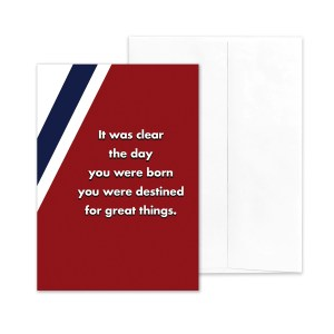 Destined - US Coast Guard military appreciation encouragement greeting card - by 2MyHero