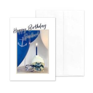 Anchor Style Birthday - US Navy Military Appreciation Birthday Greeting Card - by 2MyHero